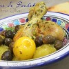 Recette tajine de poulet au citron confit
